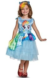 Disguise Costumes - Toys Division Rainbow Dash Movie Classic Costume Blue XS 3T-4T