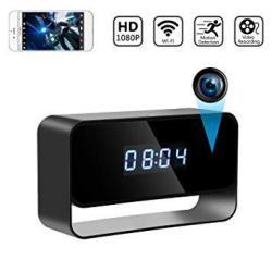 Spy Camera Wireless Hidden Cameras Clock True 1080P Covert Wifi Nanny Cam Secret Home Security Cams Strong Night Vision Video Re