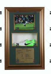 Nike Willie Le Roux Rugby Signed Rugby Boot Framed