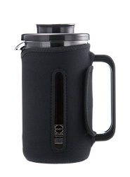GROSCHE Brenton 34 Oz. 1000ML Glass French Press With Thermal Insulated Sleeve For Warmth And Protection. German Schott Glass. Includes 1 Replacement Mesh Filter Screen Free