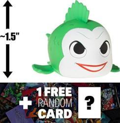 "Joker Fish: 1.5"" Dc Comics Super Heroes X Funko Mystery Minis Vinyl Figure + 1 Free Official Dc Trading Card Bundle Rare 113465"