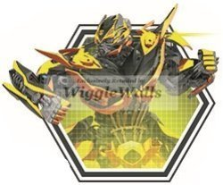 """WiggleWigal LC 6"""" Bumblebee Transformers Autobots Age Of Extinction Robots Removable Peel Self Stick Adhesive Vinyl Decorative Wall Decal Sticker Art Kids Room Home Decor Boy"""