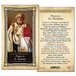 ShopCatholic St. Nicholas Laminated Prayer Card - Pack Of 10