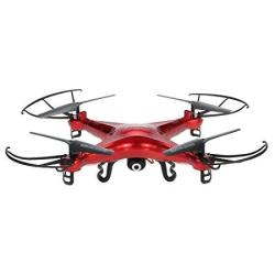Syma X5C Drone With 2.0MP HD Camera Rc Quadcopter With 3D Flips & High low Speed & Left right Mode Exclusive Red Color