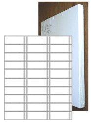 Laser Format Piggyback Labels 2.83 X 1 Inch Box Of 100 Sheets 30-UP - 3000 Labels