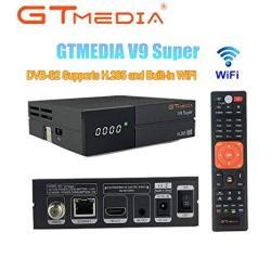 Vmade Gtmedia V9 Full HD DVB-S2 Freesat Satellite Receiver H.265 Built-in Wifi Tv Box Support Powervu Dre & Biss Key Dlna Sat To