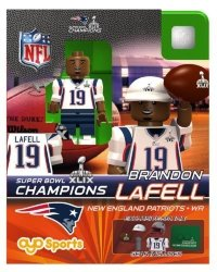 OYO Sports Toys Brandon Lafell Oyo Nfl New England Patriots G2 Series 3 Super Bowl Xlix Champions MINI Figure Limited Edition