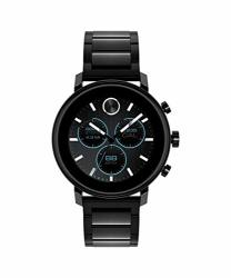 Movado Connect 2.0 Unisex Powered With Wear Os By Google Stainless Steel And Ionic Plated Black Steel Smartwatch Color: Black Model: 3660037