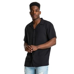 Mkm Plain Viscose Shirt Black