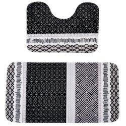 Waltex 2 Pce Luxury Foam Bath Mat Set