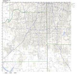 Overland Park Ks Zip Code Map Not Laminated