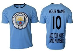 Icon Sports Manchester City Soccer Jersey Black Youth Boys Training Custom Name And Number Blue Yl