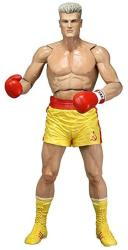 """NECA Rocky 40TH Anniversary Series 2 Drago Scale Action Figure Yellow Trunks Version 7"""" Yellow"""