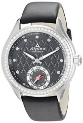 ALPINA Women&apos S AL-285BTD3CD6 Horological Smart Analog Display Swiss Quartz Black Watch