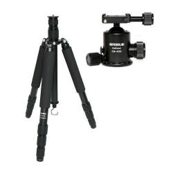 Feisol Traveler Tripod 4 Section Carbon Fiber Tripod With CB-40D Ball Head Supports 44 Lbs. Max Height 73.6