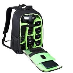 Estarer Slr dslr Camera Backpack For Nikon Canon Sony Digital Lens Gopro Accessories 15.6 Laptop W rain Cover Camera Bag