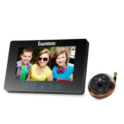 Danmini YB-43HD-MT 4.3 Inch Screen 3.0MP Security Camera No Disturb Peephole Viewer Digital Peephole Door Bell With Touch Keys Support Night Vision & Pir