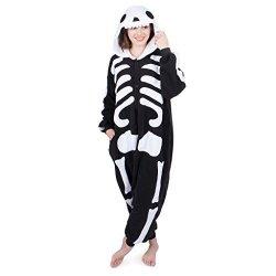 Emolly Fashion Adult Onesies Kigurumi Cosplay Costume  Skeleton Onesie  Furries Pajamas With Hood For Men   Women Small Skeleton ad96c464c5