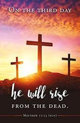 USA Easter Bulletin - On The Third Day He Will Arise - Nirv - Package Of 100