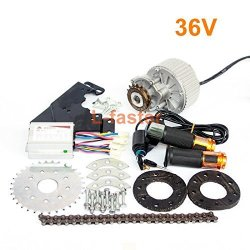 L-FASTER 450W Newest Electric Bike Left Drive Conversion Kit Can Fit Most Of Common Bicycle Use Spoke Sprocket Chain Drive For City Bike 36V Twist