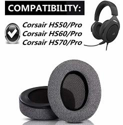 Replacement Ear Pads Cups Cushion For Corsair HS50 HS60 HS70 Pro Gaming Headset Headphones Earmuffs Style 3