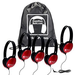 HamiltonBuhl Sack-o-phones 5 Red Primo Headphones