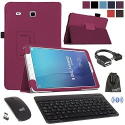Eeekit 4in1 Office Solution Kit For Samsung Galaxy Tab E 9 6 T560 Folio Smart Sleep Wake Case Stand Cover Bluttooth Wireless Key