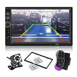 Carthree Double Din Touch Screen Car Stereo 7LCD Car Radio Touchscreen Bluetooth With Rear View Camera Tape MP5 Player USB Sd Ca