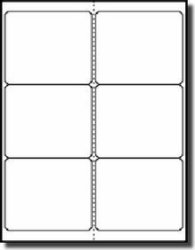 """Label Outfitters 120 4"""" X 3.33"""" Shipping Size Weatherproof White Vinyl Labels - 20 Sheets"""