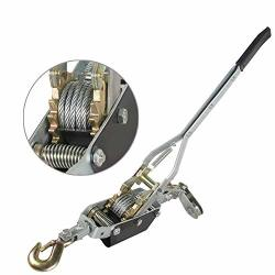 Pevor Heavy-duty Hand Puller - 4 Ton 8000LB Capacity Dual 2 Gear 1 Hooks - Come Along Cable Puller Tool Hand Power Winch Hoist