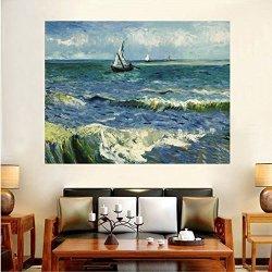 DIY Diamond Embroidery Saint Marley's Sea View Full Of Diamond Painting Van Gogh Works Series Living Room Decorative Painting