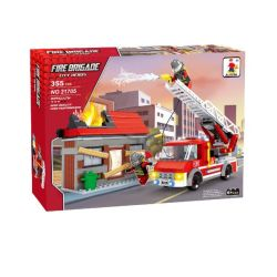 Fire Station & Fire Truck With Figurines
