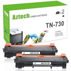 You Can'on Brother Inc. No Chip Aztech 2 Packs Compatible For Brother TN-730 TN730 Toner Cartridge Replaces For Brother HL-L2390DW HL-L2395DW DCPL2550DW MFC-L2750DW MFCL2710DW HL-L2350DW HL-L2370DWXL MFC-L2750DWXL Toner