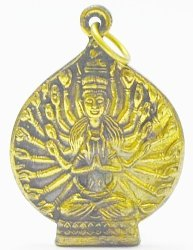 Thailand Amulets 1000 Hands Buddha Guan Yin Quan Im Bless For Success Happy Amulet Lucky Pendant