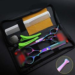 Zyl-yl Elderly Children's Home Scratch-resistant Color Hairdressing Scissors Hairdressing Scissors Combination Set Color : Colors