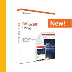 Microsoft Office 365 Home Medialess. 1 Year Subscription - New