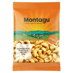 Deals on Montagu Cashew W320 Roasted & Salted 500G | Compare Prices & Shop Online