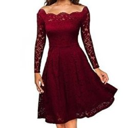 Glorystar Casual Dress Red Prices
