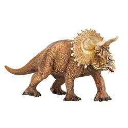 Zooawa Triceratops Dinosaur Figure Toy - Brown