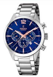 Festina Timeless Chronograph Analogue Men's Wrist Watch F20343 9