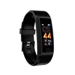 118PLUS 1.14 Inch Tft Screen Smart Bluetooth Bracelet Support Call Reminder Heart Rate Monitoring Blood Pressure Monitoring Sleep Monitoring Black