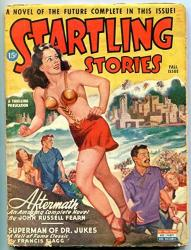 Startling Stories Pulp Fall 1945- John Russell Fearn- Francis Flagg Vg