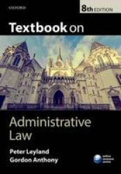 Textbook On Administrative Law Paperback 8th Revised Edition