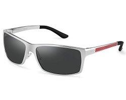 1f80399acc SOXICK Polarized Wayfarer Sunglasses For Men - Metal Frame Uv 400 Anti  Glare Glasses