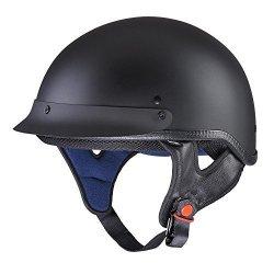 Yescom Motorcycle Half Face Helmet Dot Approved Motorbike Cruiser Chopper Matt Black XL