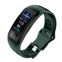 P12 0.96INCH Tft Color Screen Smart Watch IP67 Waterproof Support Call Reminder heart Rate Monitoring blood Pressure Monitoring ecg Monitoring Green