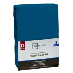 Mainstays Double 3 Piece Microfiber Sheet Set Turquoise