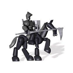 Hasbro Stikfas Omega Male Armored Knight W Stallion