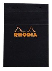 "EXACLAIR Rhodia 80 Sheet Graph Notepads 4 By 6"" Black"