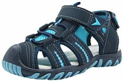 Apakowa Kid's Boy's Soft Sole Close Toe Sport Beach Sandals Toddler little Kid Color : Blue Size : 6 M Us Toddler